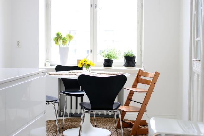 pyöreä pöytä, keittiön sisustus