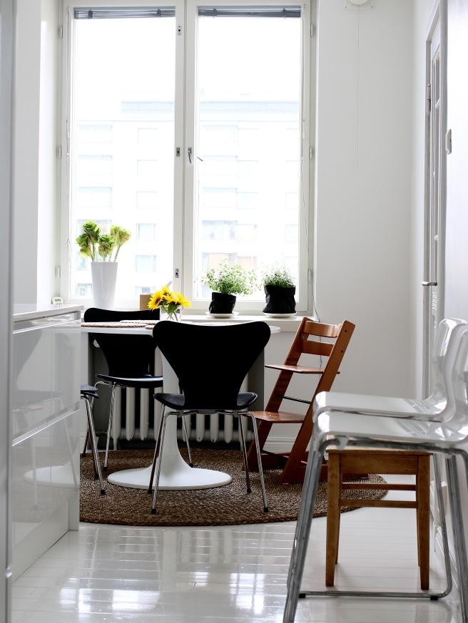 keittiö, valkoinen, stocke istuin