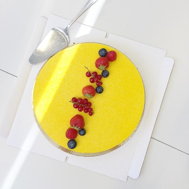 mbakery keltainen kakku