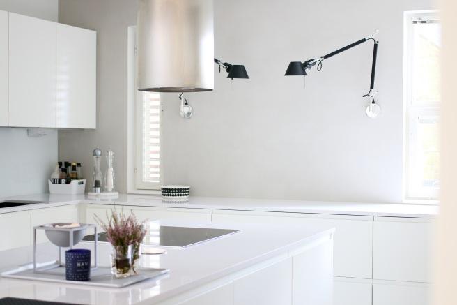 Valkoinen keittiö, design