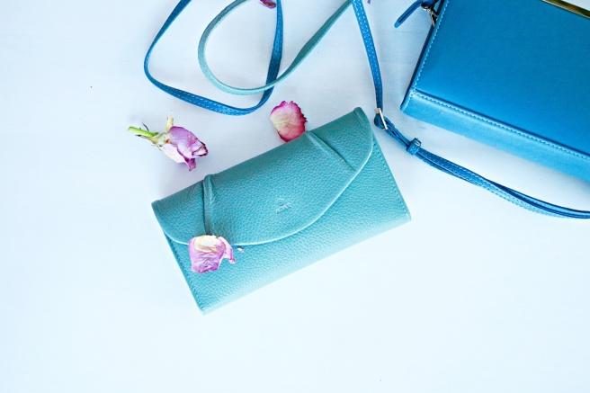 mint leather wallet