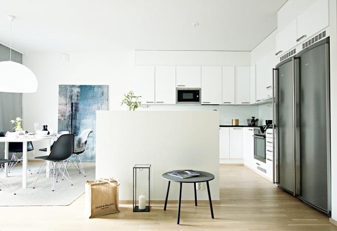 keittiö ja ruokailutila, eames tuolit