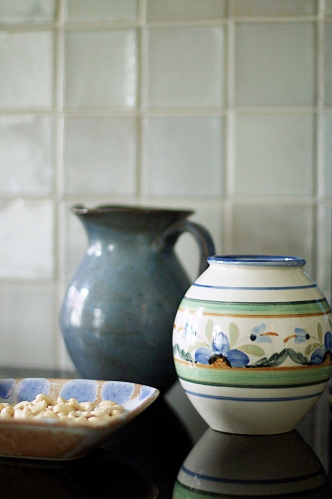 persoonallinen keittiö, vanha posliini