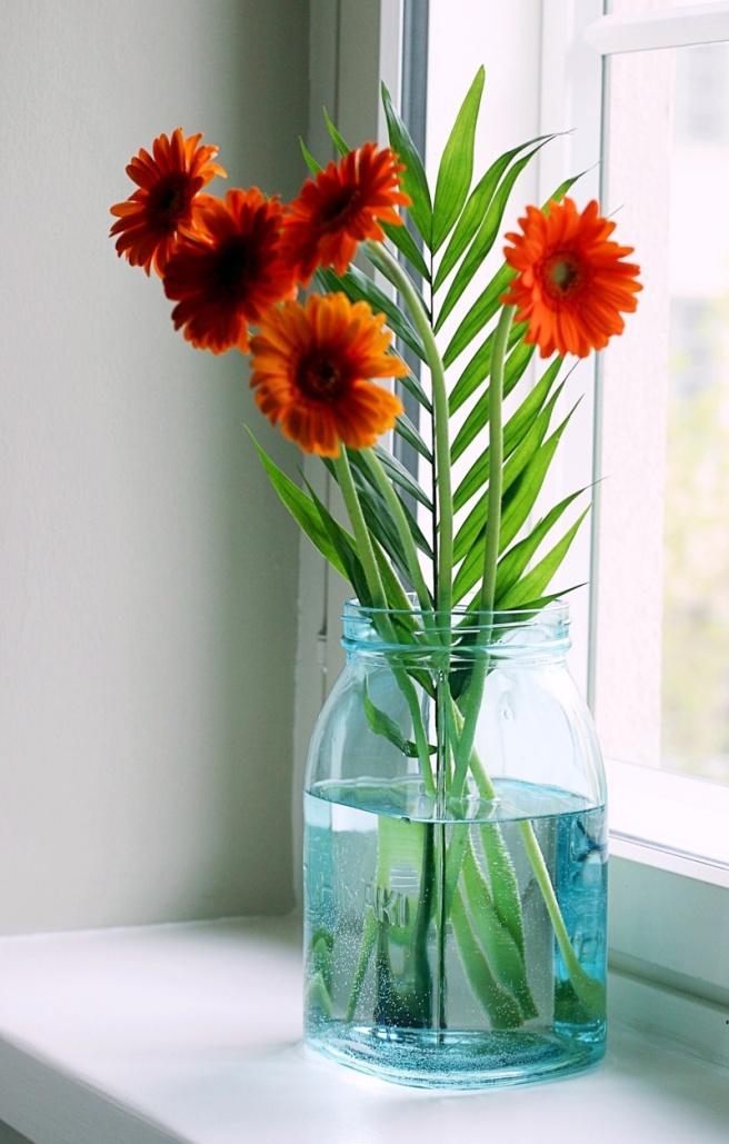 riihimäen lasipurkki, kukat