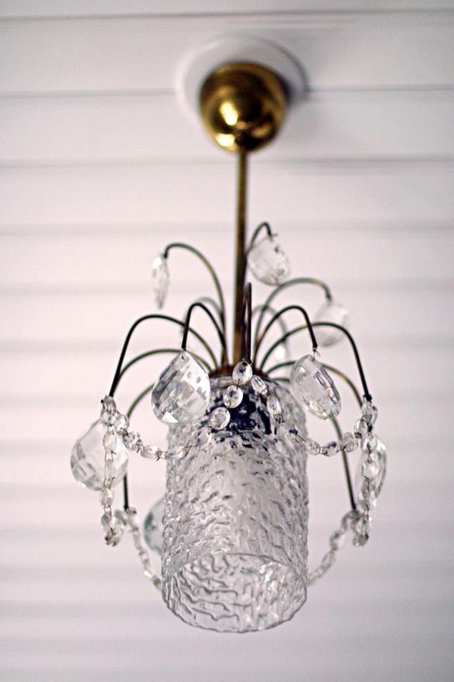 vintage kristallikruunu