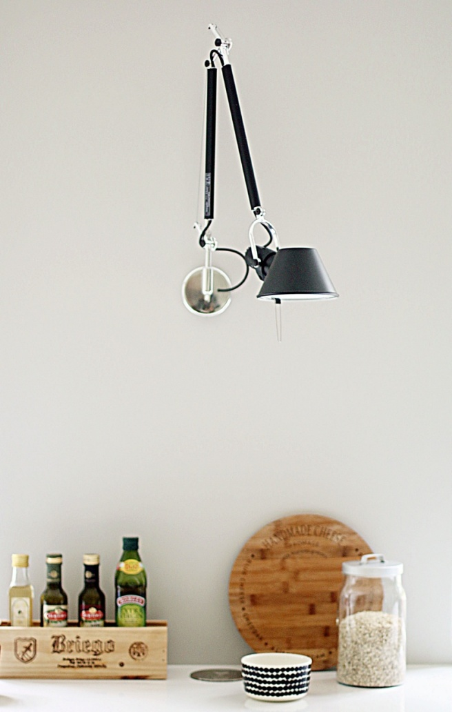 artemide tolomeo mini, keittiön seinävalaisin
