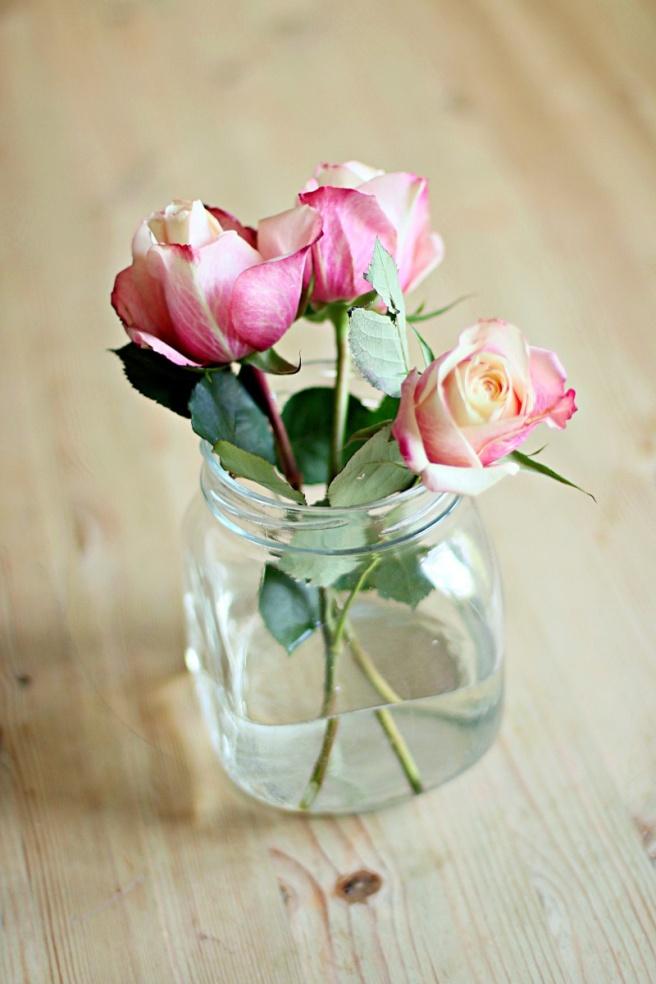 ruusut, vanha lasi
